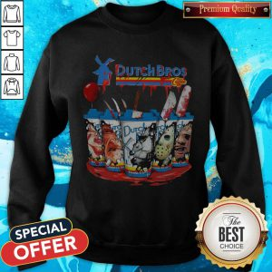 Official Dutch Bros Coffee Face Horror Character Sweatshirt