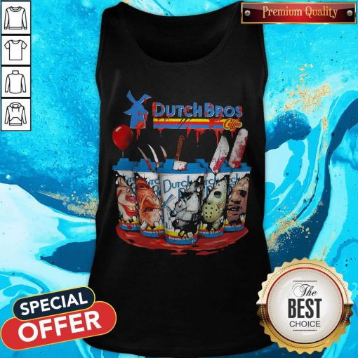 Official Dutch Bros Coffee Face Horror Character Tank Top