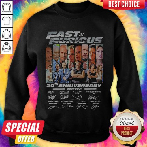 Official Fast And Furious 20th Anniversary Signatures Sweatshirt