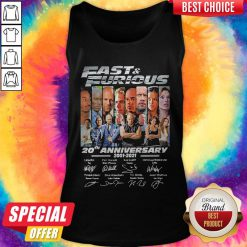 Official Fast And Furious 20th Anniversary Signatures Tank TopOfficial Fast And Furious 20th Anniversary Signatures Tank Top