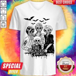 Officlal The Golden Ghouls Halloween V-neck