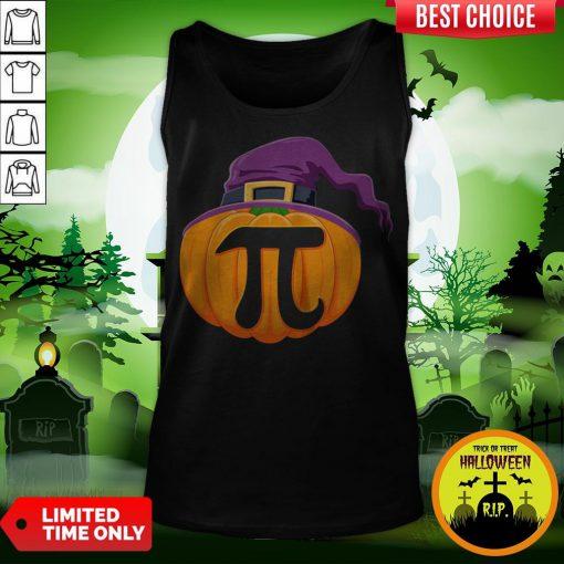 vvPumpkin Pi Halloween Math Teacher Gifts For Kids T-Tank Top