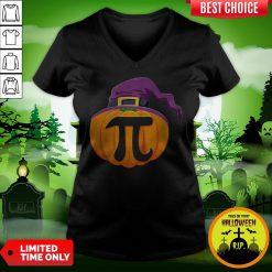 Pumpkin Pi Halloween Math Teacher Gifts For Kids T-V-neckPumpkin Pi Halloween Math Teacher Gifts For Kids T-V-neck