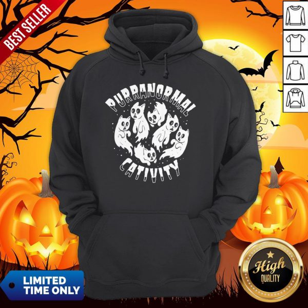 Purranormal Creativity Scary Cats Halloween HoodiePurranormal Creativity Scary Cats Halloween Hoodie