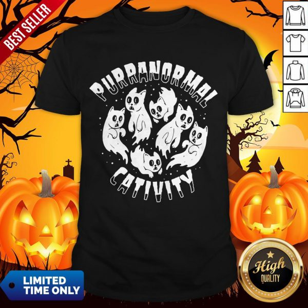 Purranormal Creativity Scary Cats Halloween Shirt