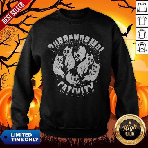Purranormal Creativity Scary Cats Halloween Sweatshirt