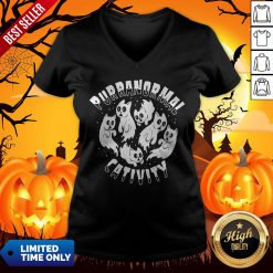 Purranormal Creativity Scary Cats Halloween V-neck