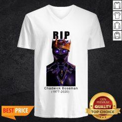 R I P King Wakanda Black Panther Chadwick Boseman V-neckR I P King Wakanda Black Panther Chadwick Boseman V-neck