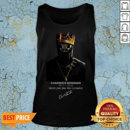 RIP Chadwick Boseman A Tribute To King T'challa The Black Panther Tank Top