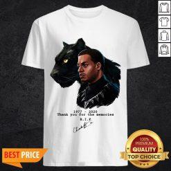 Rip Chadwick Boseman Black Panther 1977 2020 Thank You For The Memories Signature Shirt