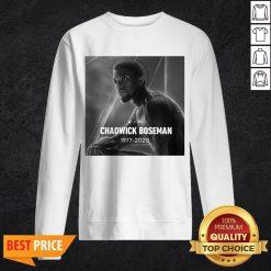 Rip Chadwick Boseman Black Panther 1977 2020 Thank You For The Memories Signature Sweatshirt