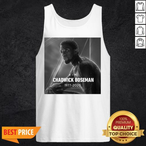Rip Chadwick Boseman Black Panther 1977 2020 Thank You For The Memories Signature Tank Top