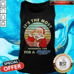 Santa Claus It's The Most Wonderful Time For A Busch Light Vintage Tank Top