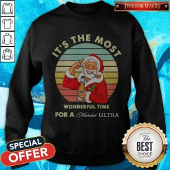 Santa Claus It's The Most Wonderful Time For A Michelob Ultra Vintage Sweatshirt