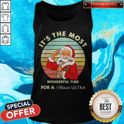 Santa Claus It's The Most Wonderful Time For A Michelob Ultra Vintage Tank Top