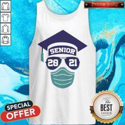 Senior 2021 Sunglasses Mask Graduation Tank Top
