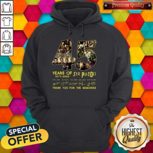 Sex Pistols 45 Years Of 1975 2020 Thank You For The Memories Signature Hoodie
