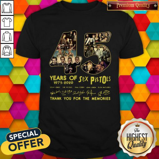 Sex Pistols 45 Years Of 1975 2020 Thank You For The Memories Signature Shirt