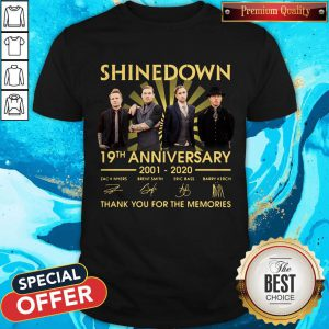 Shinedown 19th Anniversary 2001 2020 Thank You For The Memories Signatures Shirt