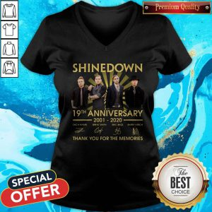 Shinedown 19th Anniversary 2001 2020 Thank You For The Memories Signatures V-neck