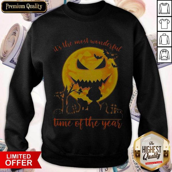 Snoopy And Charlie Brown It's The Most Wonderful Time Of The Year Sweatshirt