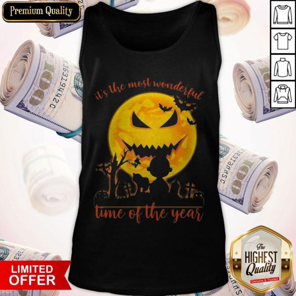 Snoopy And Charlie Brown It's The Most Wonderful Time Of The Year Tank Top