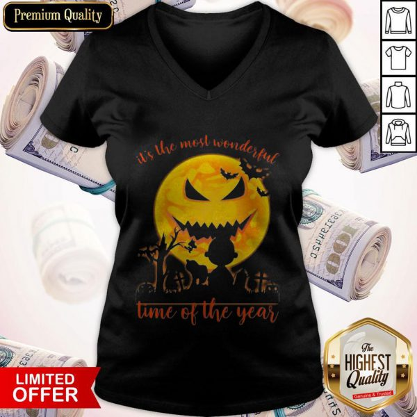Snoopy And Charlie Brown It's The Most Wonderful Time Of The Year V-neck