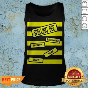 Spelling Bee Funny Pun Teacher Halloween Costume Tank Top