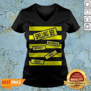 Spelling Bee Funny Pun Teacher Halloween Costume V-neck