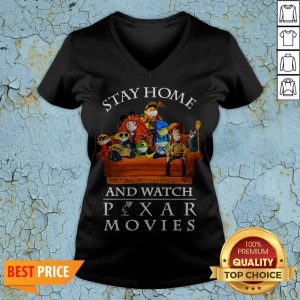 Stay Home And Watch Pixar Movies V-neck