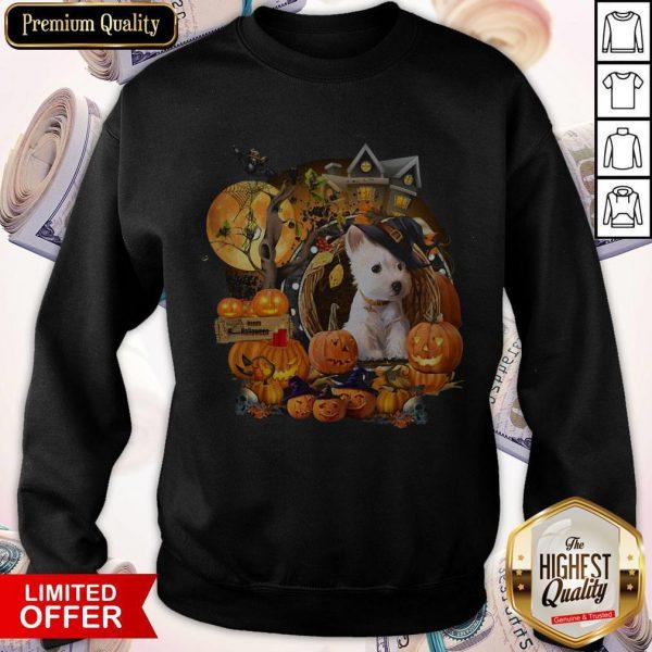 Terrier Puppy Happy Halloween Sweatshirt