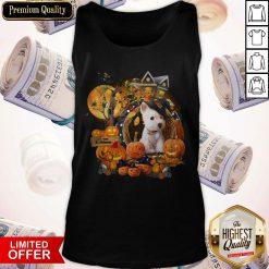 Terrier Puppy Happy Halloween Tank Top
