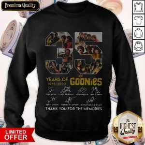 The Goonies Years Of 1985-2020 Signatures Thank You For The Memories SThe Goonies Years Of 1985-2020 Signatures Thank You For The Memories Sweatshirtweatshirt