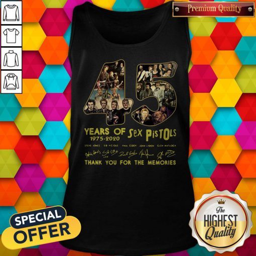 Sex Pistols 45 Years Of 1975 2020 Thank You For The Memories Signature Tank Top