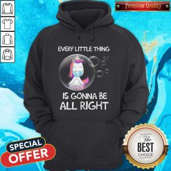Unicorn Every Little Thing's Gonna Be Alright Bubbles Hoodie