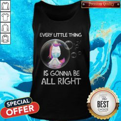 Unicorn Every Little Thing's Gonna Be Alright Bubbles Tank Top