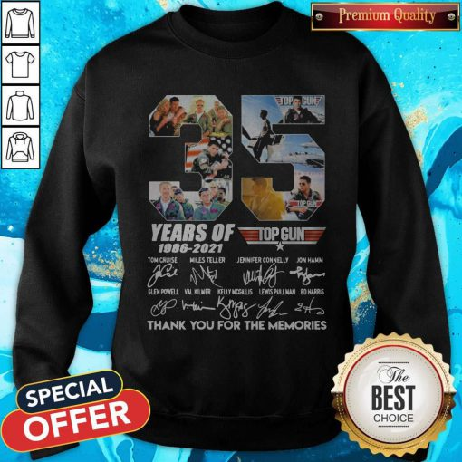 Untitled-1Top Gun 35 Years Of 1986-2021 Thank You For The Memories Signatures Sweatshirt