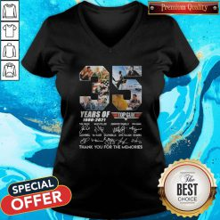 Untitled-1Top Gun 35 Years Of 1986-2021 Thank You For The Memories Signatures V-neck