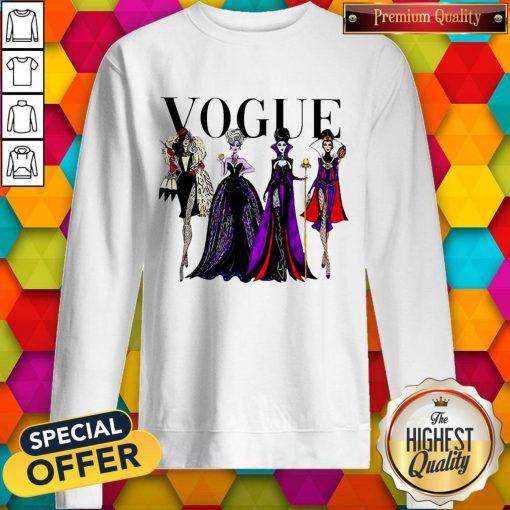 Vogue Disney Villains Evil Divas Paco Chicano Sweatshirt