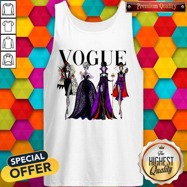 Vogue Disney Villains Evil Divas Paco Chicano Tank Top