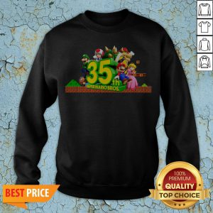 35th Anniversary Of Super Mario Bros Sweatshirt