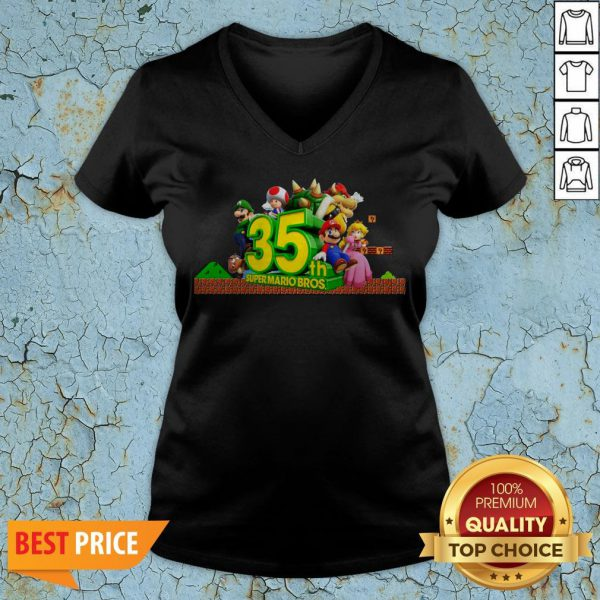 35th Anniversary Of Super Mario Bros V-neck