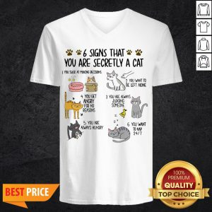 6 Signs That You Are Secretly A Cat V-neck