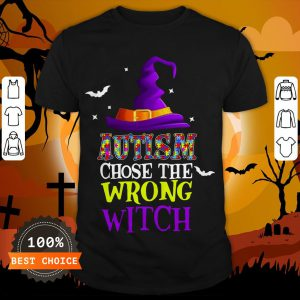 Autism Choose The Wrong Witch Halloween T-Shirt