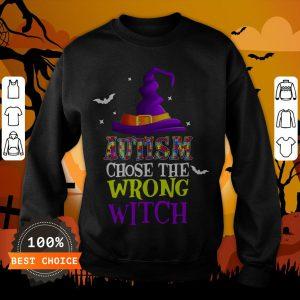Autism Choose The Wrong Witch Halloween T-Sweatshirt
