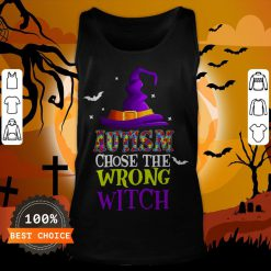 Autism Choose The Wrong Witch Halloween T-Tank Top