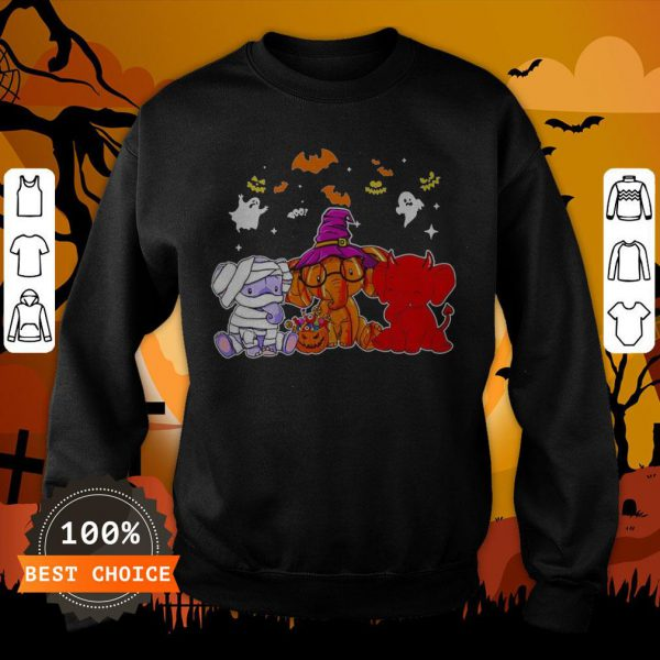 Awesome Elephant Ghost Halloween Sweatshirt