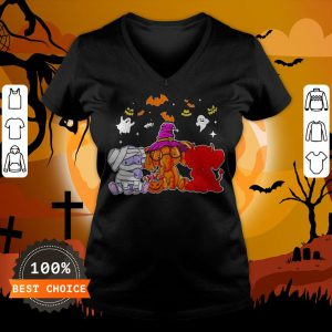 Awesome Elephant Ghost Halloween V-neck