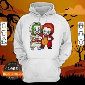 Baby Joker And Pennywise Horror Movies Characters Halloween Hoodie