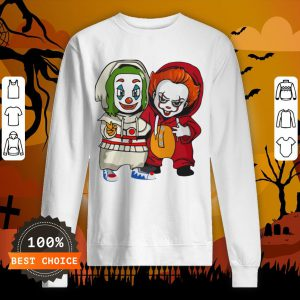 Baby Joker And Pennywise Horror Movies Characters Halloween Sweatshirt